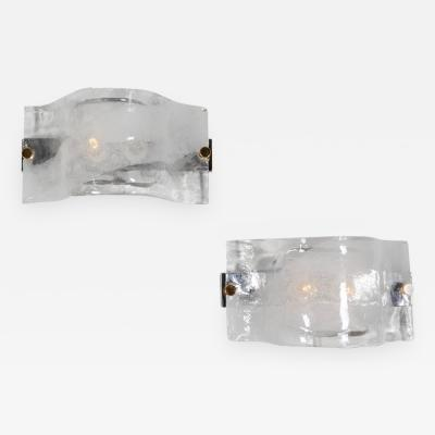 Spectacular Pair of Mazzega Sconces
