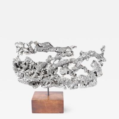 Spill Cast Aluminum Table Sculpture