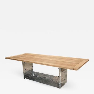 Spirit Burma Teak Table with Plexi Base