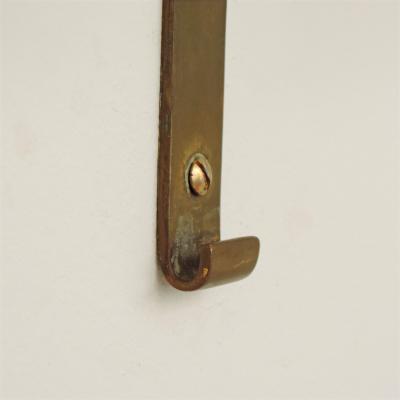 Splendid Sculptural Italian Brass Coat Hangers 1940s