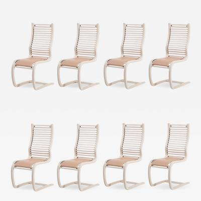 Spring Stol Set 8 Dining chairs by ForaForm Norway 1970