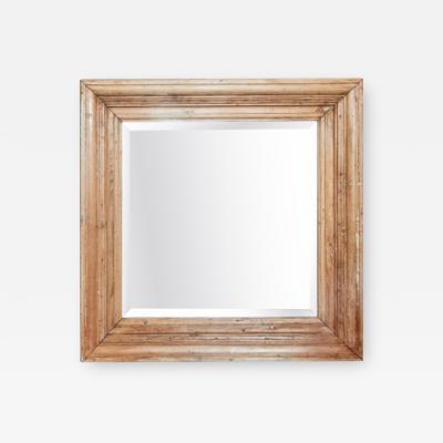 Square Pine Mirror