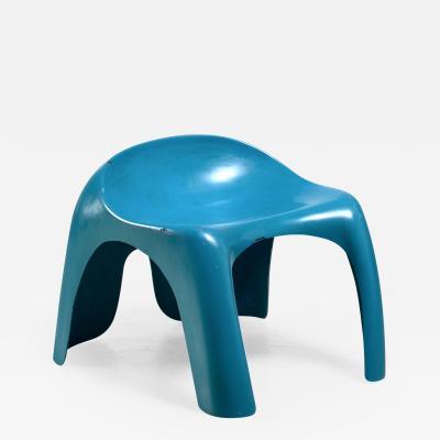 Stacy Dukes Blue polyester Stacy Dukes stool USA 1960s