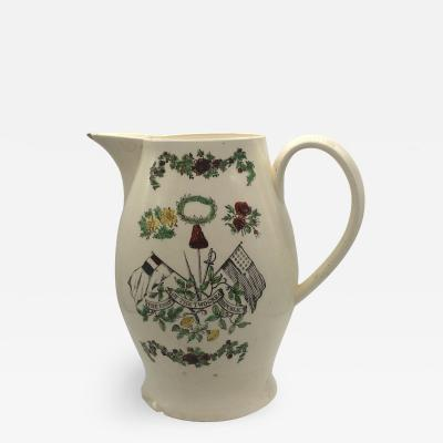 Staffordshire Creamware Liverpool Pitcher Union of The Two Great Republics