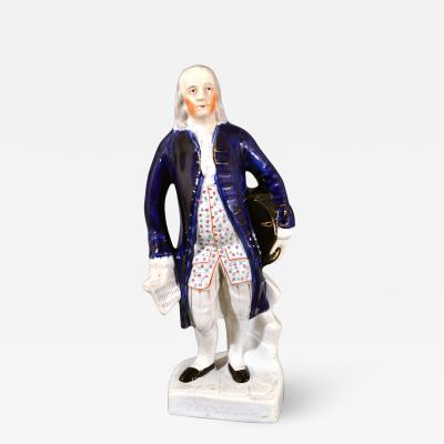 Staffordshire Pottery Named Figure of Benjamin Franklin