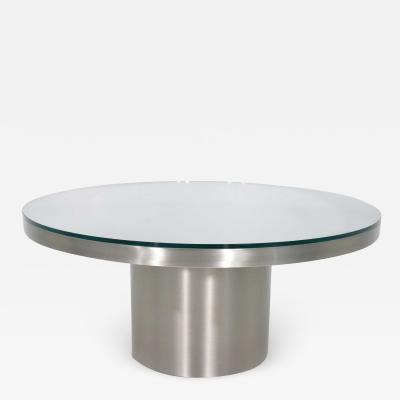 Stainelss Steel Pedestal Base Coffee Table