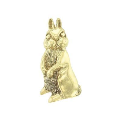 Standing Bunny Pendant 18K Yellow Gold