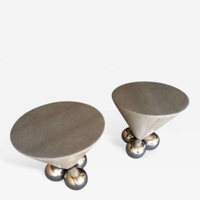 Stanley Jay Friedman Pair Bocci Occasional Tables