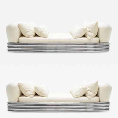 Stanley Jay Friedman Pair of Brueton Radiator Beds
