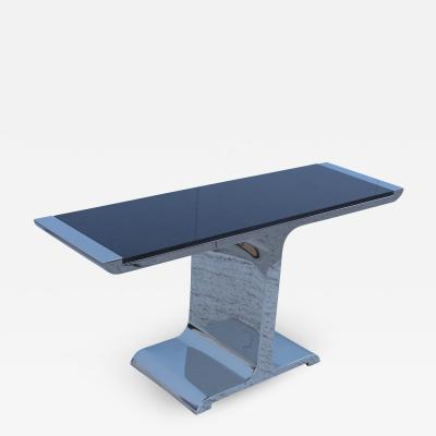 Stanley Jay Friedman Stanley Jay Friedman For Brueton Polished Steel Eagle Console