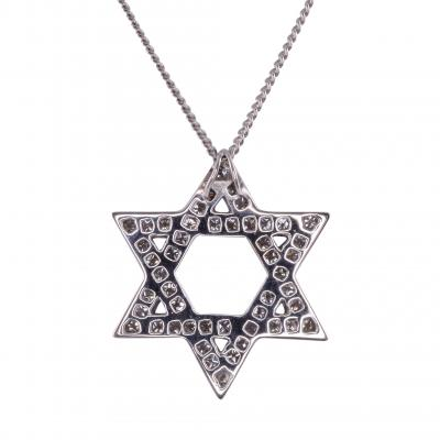 Star of David Diamond Pendant on Chain