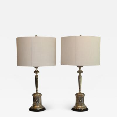 Stately Pair Of Neo Classic Table Lamps