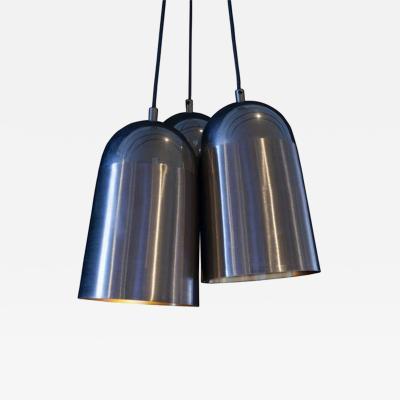 Steel Three Light Pendant