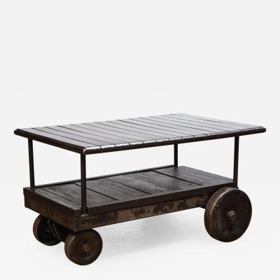 Steel Wood Industrial Cart