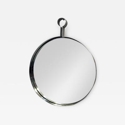 Steel circular mirror 1970s