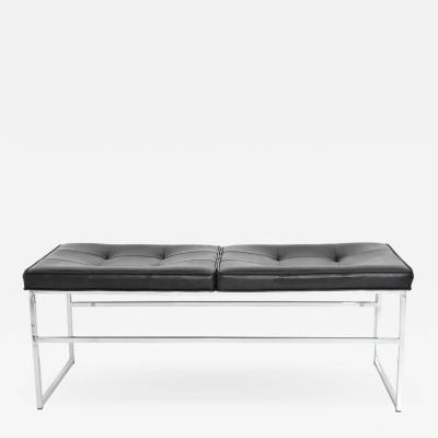 Steelcase Co Bench in Chrome and Leather by Steelcase