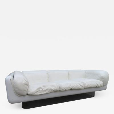 Steelcase Co Fabulous Steelcase Fiberglass Leather Space Age Modern Sofa William Andrus