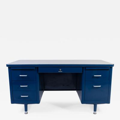Steelcase Co Marine Blue Steelcase Tanker Desk