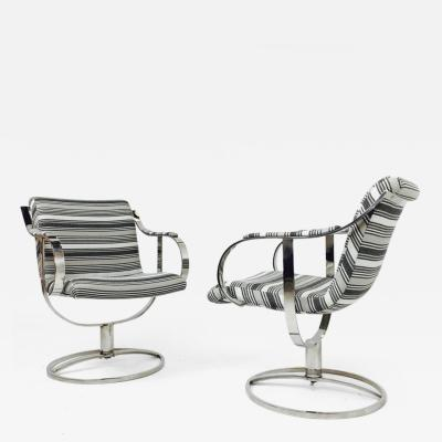Steelcase Co Pair of Steel Case Leather Swivel Chairs