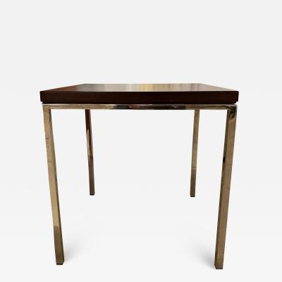 Steelcase Co Square walnut and chrome side table