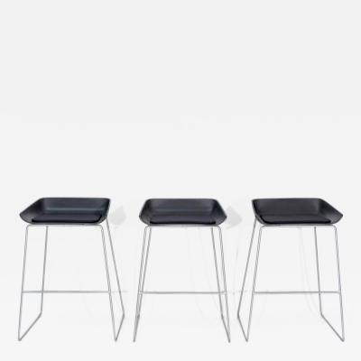 Steelcase Co Three Black Turnstone Scoop Stools by Steelcase