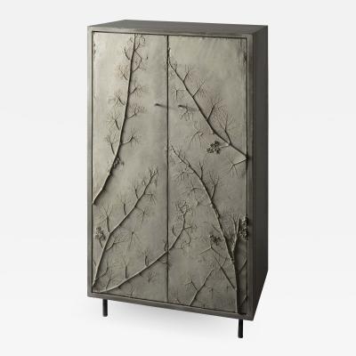 Stefan Buxbaum WELSH RIESLING concrete cabinet cupboard with plant imprints