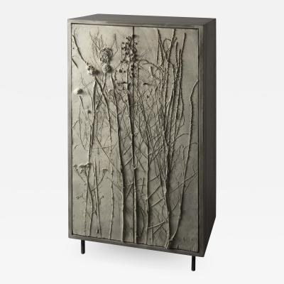 Stefan Buxbaum WILD MEADOW concrete cabinet cupboard with plant imprints