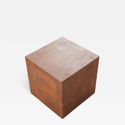 Stefan Rurak Studio Drawn Rusted Cube