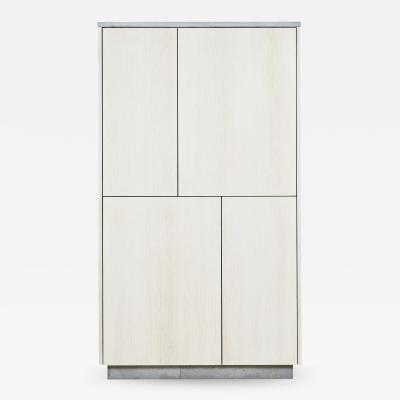 Stefan Rurak Studio Minimal 4 Door Janice Armoire Concrete White Oak and Mint Green Interior