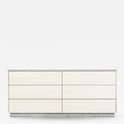 Stefan Rurak Studio Minimal 6 Drawer Janice Dresser Concrete White Oak and Mint Green Interior