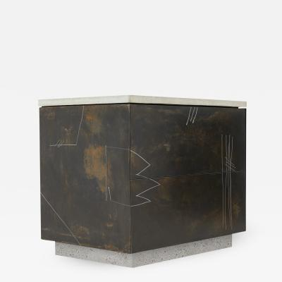 Stefan Rurak Studio S O Side Table Drawers with Drawn Faces v2