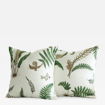 Stens ta Fern Textile Pillows 18 X 18 a Pair