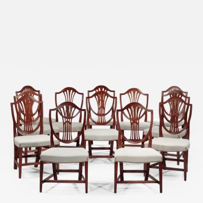 Stephen Badlam Matched Set of Twelve Federal Side Chairs attributed to Stephen Badlam