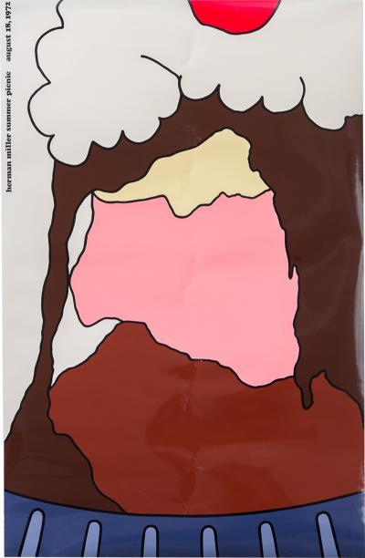 Stephen Frykholm Herman Miller Summer Picnic Ice Cream Sundae Poster