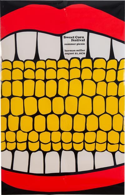 Stephen Frykholm Herman Miller Summer Picnic Sweet Corn Festival Poster