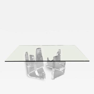 Stephen K Frye Lucite Iceberg Dining Table by Stephen K Frye for Lion in Frost