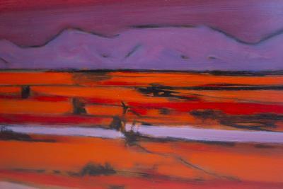 Stephen Thomas Rascoe Stephen Thomas Rascoe Abstract Landscape Painting 1970s Sierra Madre Texas Art