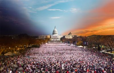 Stephen Wilkes Presidential Inauguration Washington DC 2013