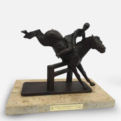 Sterett Gittings Kelsey Sterett Gittings Kelsey Bronze Girl with Horse Jumping for Royal Copenhagen