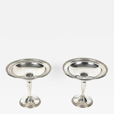 Sterling Silver Pair of Vintage Compote Candy Dish
