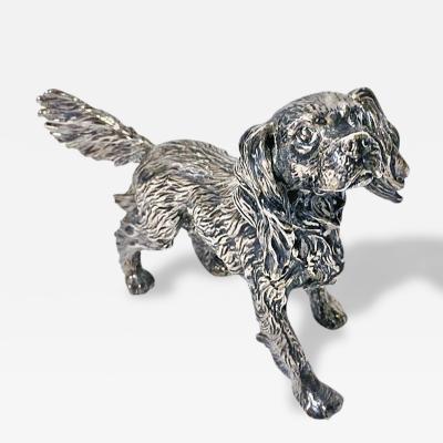 Sterling Silver Spaniel Dog Figurine