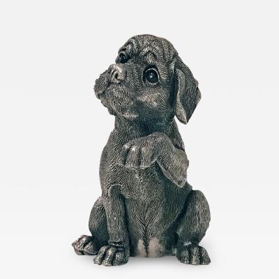 Sterling Statue Sculpture of Spaniel Dog C 1995