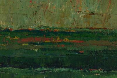 Stevan Kissel Reduction Landscape Abstract Oil Painting by Stevan Kissel