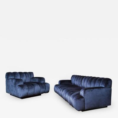 Steve Chase Channel Quilted Sofa and Chair by Steve Chase