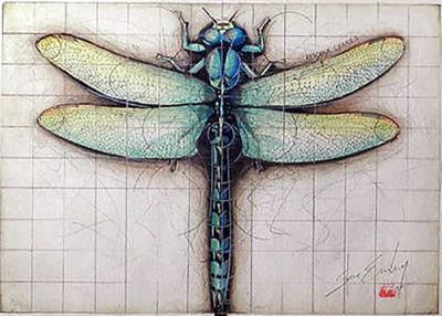 Steve Erenberg Original Watercolor From Entomechanica Series