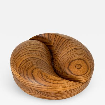 Steven Sprio Carved Sculptural Zebrawood Box by Steven Spiro