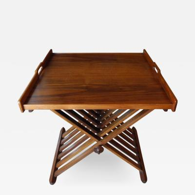 Stewart McDougall Campaign Tray Table by Stewart McDougall for Drexel in Walnut