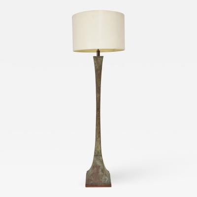 Stewart Ross James Mid Century Modern Bronze Floor Lamp with Verdigris Patina Stewart Ross Hansen