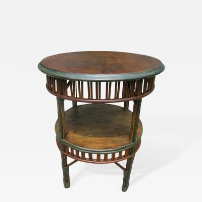 Stick Wicker End Table