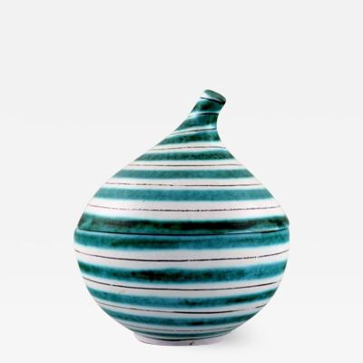 Stig Lindberg Onion shaped lidded jar in glazed ceramic stoneware